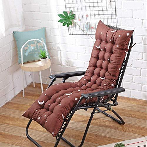 NoNo Lang kussen ligstoelen opvouwbaar verdikt stoelkussen tuinstoelkussen venstervloermat dubbelzijdige tatami-mat 48x125cm koffie