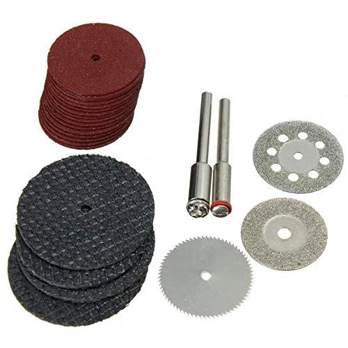 ZOYOSI Juego de accesorios de accesorio para herramientas rotativas 26 unidades, herramienta abrasiva compatible con Dremel