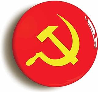 Communist Soviet Union Flag Retro Eighties Button Pin (Size 1inch Diameter)
