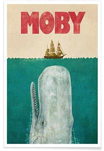 "JUNIQE® Wale Poster 40x60cm - Design ""Moby"" entworfen von Terry Fan"