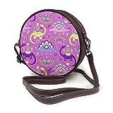 Bandolera para mujer, bolso lateral para viajes, verano, diseño de dinosaurios, color rosa, morado oscuro