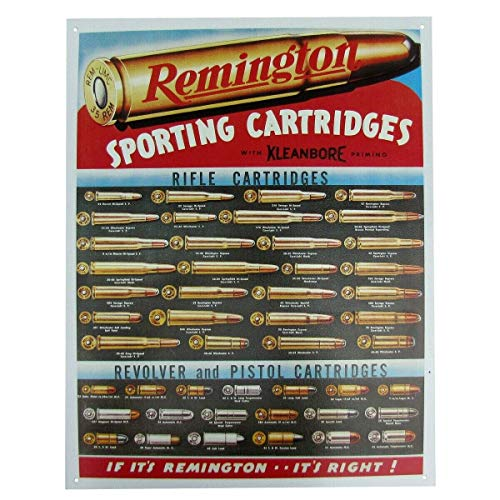 AMELIA SHARPE Remington - Cartuchos de pistola de rifle para revólver (30,4 x 20,3 cm)