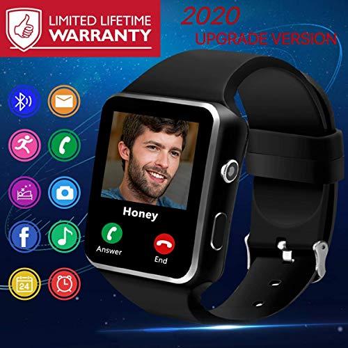 Bluetooth Smartwatch con Camera,Smart Watch Phone Touchscreen,Smart Orologio,Impermeabile Orologio Intelligente con SIM Card Fessura per Android Samsung Huawei ios phone X 8 7 6 6s 5 Uomo Men Donna