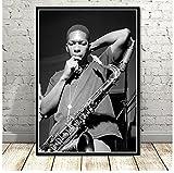 Poster Miles Davis Poster Art of Blue Jazz Musik Album