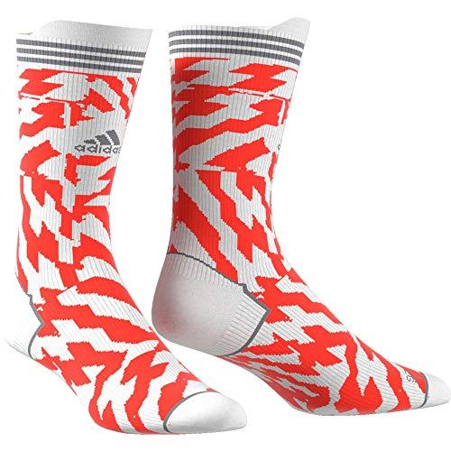 adidas Herren Alphaskin Construction Tape Socken, White/Solred/Grethr, XS