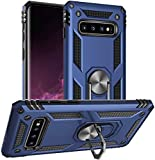 STORM BUY Phone Case for [ Samsung Galaxy S10e ], Hard Back Cover with [Shock Absorption] Protection, Kickstand Ring Blue Case for Galaxy S10e 5.8-Inch -KKBL