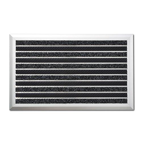 Alu-Türmatte | Optimum Mat | Textilfaser-Rips & Bürsten | Schmutzfangmatte für Innen- und Außenbereich | Witterungs- und UV-beständig (45 x 75 cm | mit Bürsten)