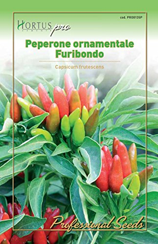 Hortus 09HPRO0135P Peperone Furibondo, Busta PRO, 13x0.3x20 cm