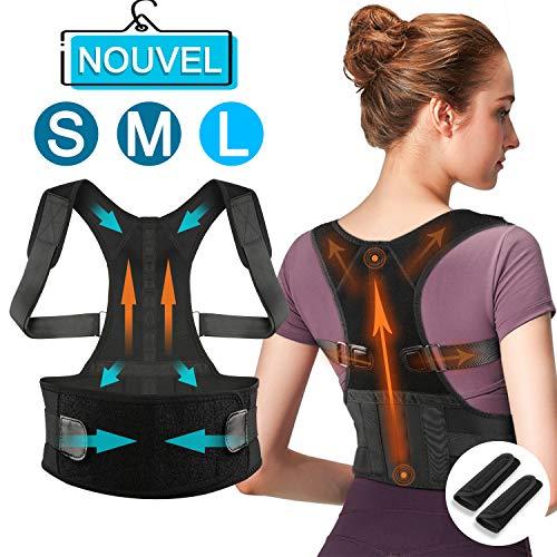 ShuBel Correcteur de Posture, améliorer la Posture,Ceinture réglable léger Discret et Confortable,idéal pour soulager Les...