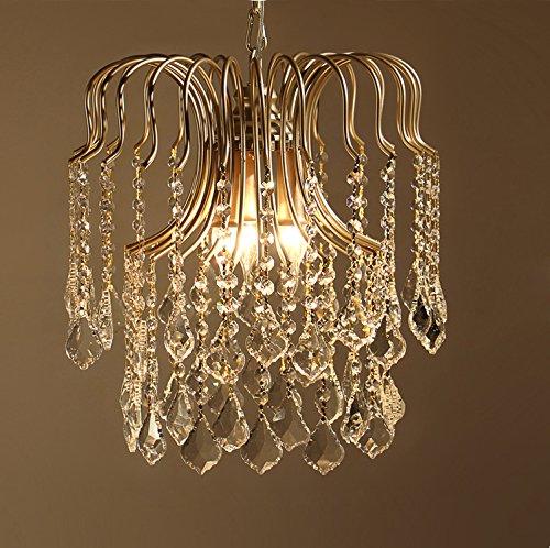 Lustre moderne K9 en cristal - 3 ampoules - E14 - Élégant lustre rond en verre transparent - Hauteur réglable - Pour restaurant, chambre à coucher, salon - Diamètre : 40 cm - Maximum 30 W