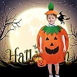 AISHNA, costume da zucca per Halloween, carino, unisex, con zucca, per cosplay, per feste di Carnevale e cosplay. Adatto per bambini di 4 – 15 anni.