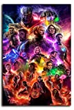 Megiri Art Decoración de pared Superhéroe Avengers enmarcada...