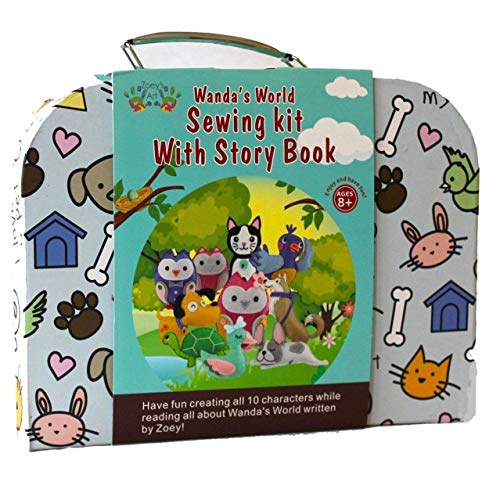 Art Craft Kits for Girls: Sewing Kit with Read Along Story Book, Fun Animals Dogs Cats Owls Project for Kids, Creative and Educational Your Child Will Love - Create A Memorable Experience to Cherish