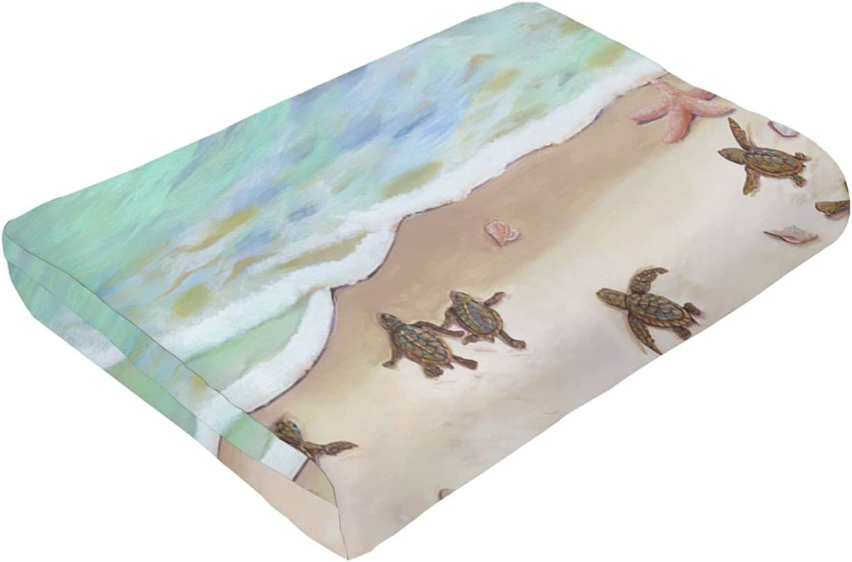 Turtles On The Popular products Beach Throw Warm Lightweight Fl Blankets 55% OFF Camping