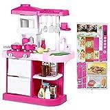 YXZQ Shelf, Children Chef Play House Juego de simulación Toy Kitchen Play Set Juego de Roles Toy Kids Kitchen Juego de Herramientas de Cocina para niños pequeños Simulación Spark and Sound E