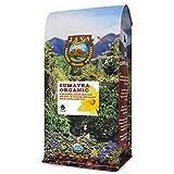 Java Planet, Organic Coffee Beans, Sumatra Indonesia Single Origin, Low Acid, Gourmet Dark Roast of Arabica Whole Bean Coffee, Certified Organic and Fair Trade, Grown at High Altitudes , 1LB Bag