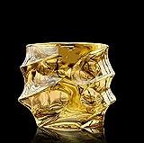 KNAGHT Vaso de Cristal Cepillado Gin Whisky Vaso de Cerveza Jarra de Cerveza Vaso de té licores Vaso de Brandy 300ml A
