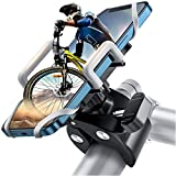 """JOYROOM Supporto Telefono Bicicletta, Porta Cellulare Bici 360° Rotabile Universale Supporto Smartphone per Bici, Moto Ciclismo MTB GPS Navigatore per iPhone Samsung Note da 4""""-7"""" (Argento)"""