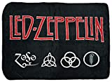 Bioworld Led Zeppelin 4 Symbols Super Soft and Cuddly Fleece Plush Throw Blanket