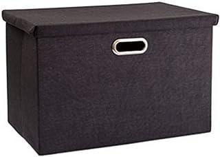Panier de rangement Panier de rangement en lin de coton Boîte de rangement de vêtements Boîte de rangement couverte Boîte ...