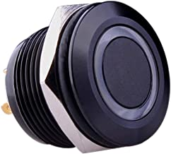 Ulincos Momentary Pushbutton Switch U19D1 1NO SPST Black Metal Shell with Blue LED Ring Suitable for 19mm 3/4