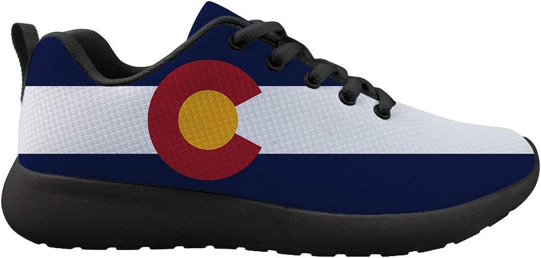 Owaheson Cushioning Sneaker Trail Running shoes Mens Womens colorado Flag