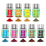 Powder Food Coloring 9 Colors Set - Upgraded Flavorless Concentrated Edible Powdered Food Color Dye...