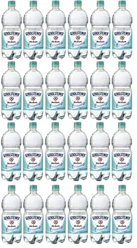 24 Flaschen Gerolsteiner Medium a 1l PET EINWEG inklusive 6€