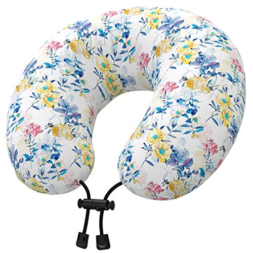 Nobildonna Latex Travel Neck Pillow with Multicolor Cover for Kids Women...