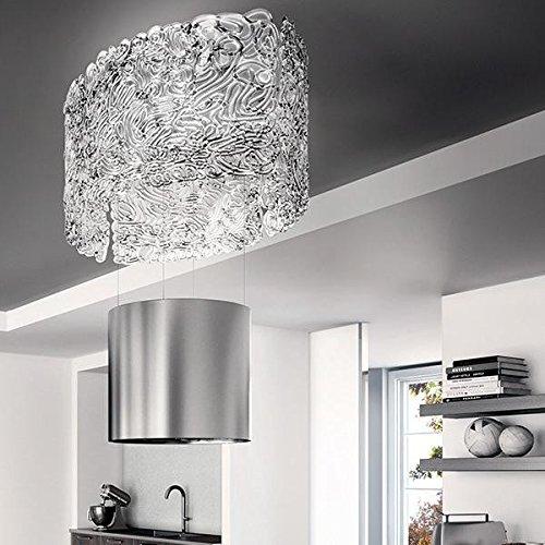 Faber - Cappa ad isola Up and Down NEST PLUS finitura acciaio inox e vetro da 86cm
