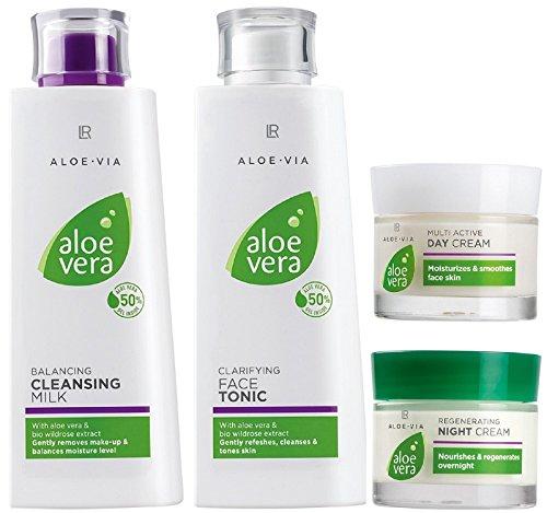 LR ALOE VIA Aloe Vera Gesichtspflege-Set (Reinigungsmilch, Gesichtswasser, Tages- & Nachtcreme)