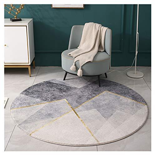 Tapis CXIA Rond Gris, De Yoga Antidérapant Géométrique Simple Nordique, Chambre à Coucher, Salon, Décoratif De Chambre d