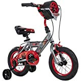 Huffy Disney Cars Kid Bike Quick Connect Assembly, Tire Case Storage & Training Wheels, 12' Grey (72129)