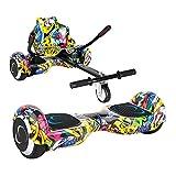 SMARTGYRO X2 + GO Pack Patinete Eléctrico + Kart, Certificado UL, Batería de Litio, Cómodo y Ergonómico, Unisex Niños, Multicolor, Street, 6.5 Pulgadas