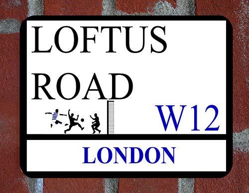 Glory mugs QPR Loftus Road Metal Street Sign Skyline 28cm x 20cm