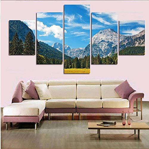 Impresión de Arte en Lienzo HD Wall Modular Modern Sunset Mountain Landscape Poster Imágenes Pintura Sala de Estar Decoración del hogar / 30x40 30x60 30x80cm (sin Marco)