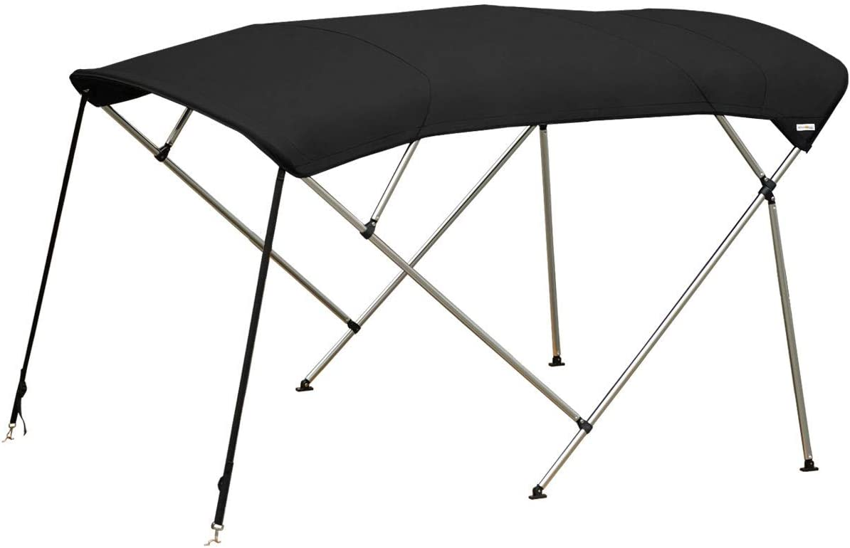 Black or Grey Available in Six Different Sizes Oceansouth 4 Bow Bimini Top in Blue