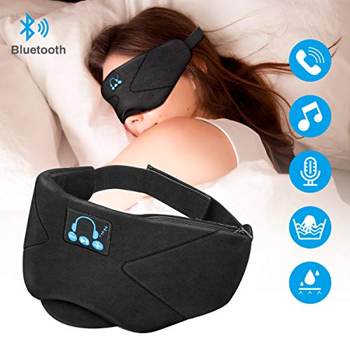 Laelr Auriculares de Dormir Bluetooth, Music Sleep Eye Shades 5.0 Diad