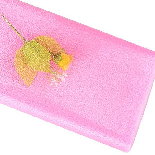 BETESSIN 10m*48cm Tul Rosa Tulle Tela de Tul Cinta Brillo Manualidades DIY para Decoración de Boda Banquete Fiesta Navidad Envolver Regalos Lazos Sillas Tutú Falda