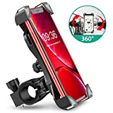 Bike Phone Mount, TEUMI Anti-Shake Bicycle Motorcycle Phone Holder 360° Rotation Universal Cradle