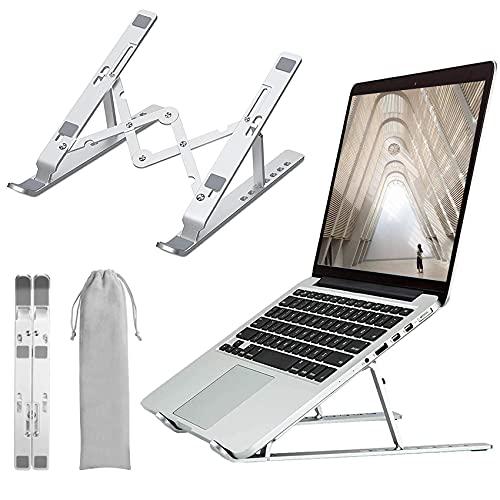 Zoeley Soporte Portátil Mesa, Soporte para Ordenador Portátil Ventilado Plegable 7 Ángulos Ajustable Aluminio Soporte Mesa para Laptop, Computadora, Tabletas, Kindles, Nintendo,Teléfonos Móviles
