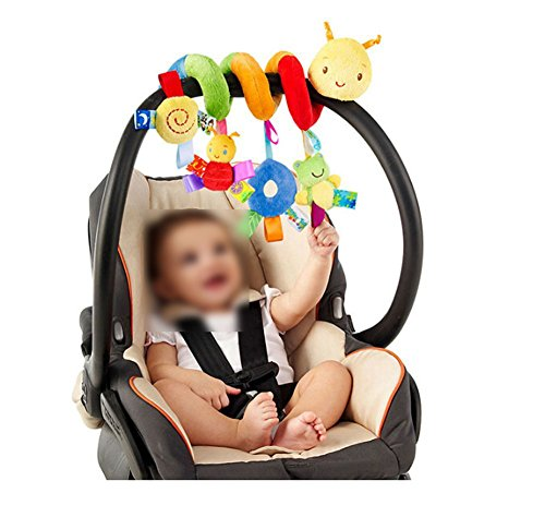Lalang Baby Kids Spiral Activity Hanging Toys Stroller Toy Car Seat Bed Hanging Toys (Insects)