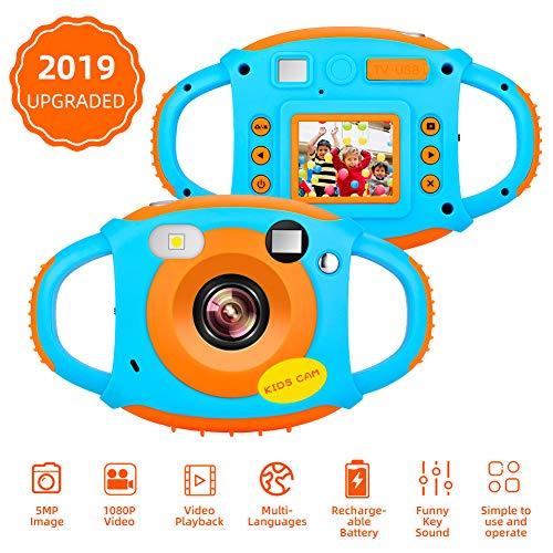 Cámara para Niños Camara Fotos Infantil 1080P HD 5MP Cámara Digital para Niños Pantalla de 1.77 Pulgadas Mini Cámara Recargable para Niños Camaras de Fotos para Niño Regalo