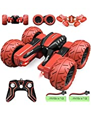 Tobeape® Remote Control Car RC Cars - Drift High Speed Off Road Stunt Truck, Race Toy with 2 Rechargeable Batteries, 4 Wheel Drive - Red