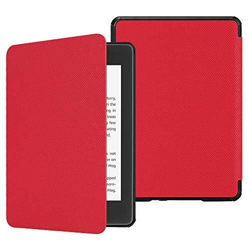 Fintie Custodia per Kindle Paperwhite 2018, Cover con Funzione Auto Sveglia/Sonno per Kindle Paperwhite (10ª generazione - modello 2018), Rosso
