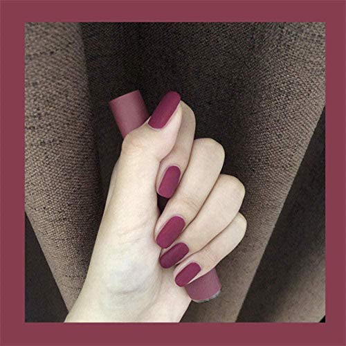 CSCH Faux ongles Faux Ongles Rose Violet Gommage Moyen Long Faux Ongles Pièces Porter Manucure Ongles Finis Pièces 24 Pièces