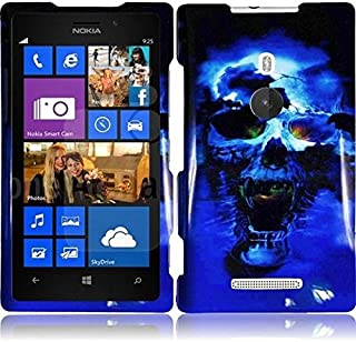 HR Wireless Design Protective Cover for Nokia Lumia 925 - Retail Packaging - Blue Skull