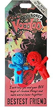 Watchover Voodoo - String Voodoo Doll Keychain – Novelty Voodoo Doll for Bag Luggage or Car Mirror - Bestest Friend Voodoo Keychain 5 inches