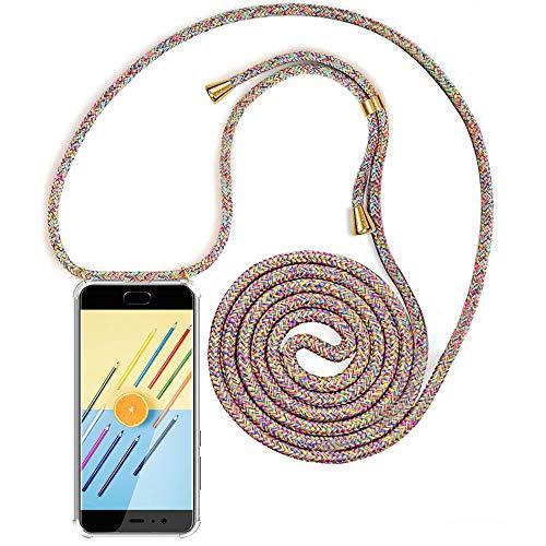 XCYYOO Handykette Handyhülle mit Band Kompatibel für Huawei P10 - Handy-Kette Handy Hülle mit Kordel zum Umhängen Handyanhänger Halsband Lanyard Case/Handy Band Halsband Necklace