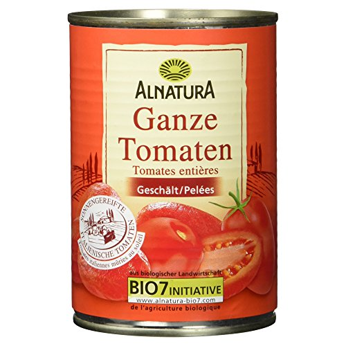 Alnatura Bio ganze Tomaten, vegan, 12er Pack (12 x 400 g)